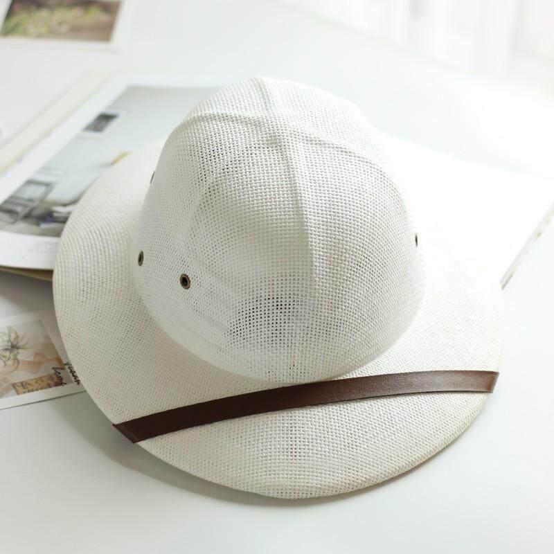 da290c394 Novelty Toquilla Straw Helmet Pith Sun Hats for Men Vietnam War Army Hat  Dad Boater Bucket Hats Safari Jungle Miners Cap B-8268