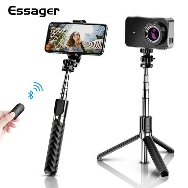 Essager Giá đỡ 3 chân Bluetooth linh động dùng cho chụp ảnh selfie 3 trong 1 với điều khiển chụp hình quay phim từ xa tiện dụng dùng cho iPhone 11 Pro Max Xiaomi Huawei Vivo Oppo Realme chất liệu nhôm+PC bền giá tốt - INTL