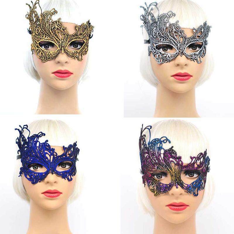 Women Lace Mask Venetian Masquerade Ball Party Carnival Face Bronzing Eye  Masks