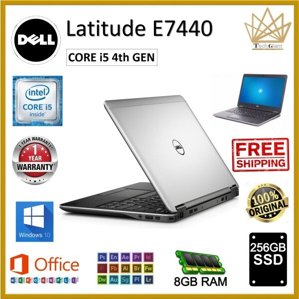 Dell LATITUDE E7440 CORE i5 - 4200U / 8 GB RAM / 256 GB SSD / WINDOWS 10 PRO / 14 INCHES HD SCREEN / Dell Latitude E7440 / REFURBISHED / 1 year Warranty Malaysia
