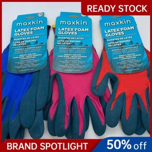 Maxkin Latex Foam Safety Gloves (scaffolding, gardening, construction etc)