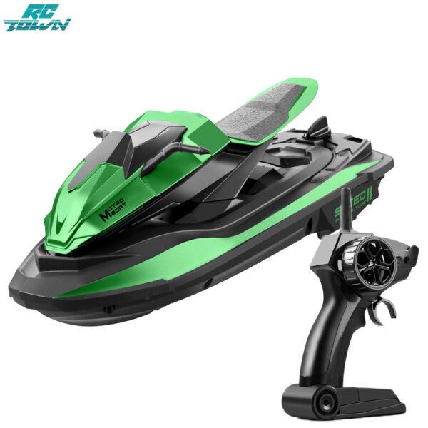 RCTOWN JJRC S9 Mô hình thuyền đua đồ chơi điều khiển từ xa động cơ kép thiết kế thái công học hỗ trợ 2.4G tỉ lệ 1:14 - INTL