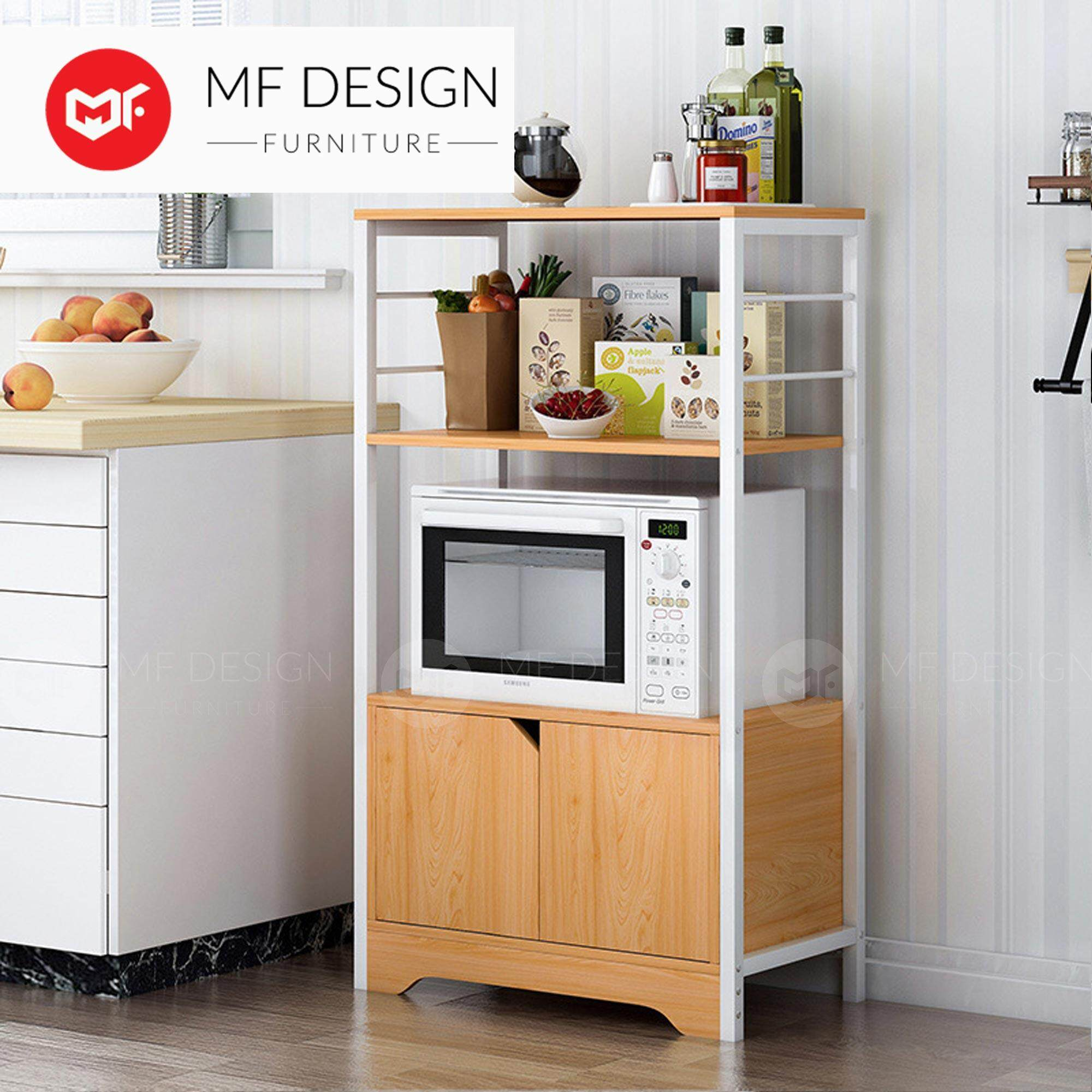 MF DESIGN Kitchen Storage Racks Household Microwave Oven Rack European-style Multi-Function Living Room Storage Cupboard (L85) 2019