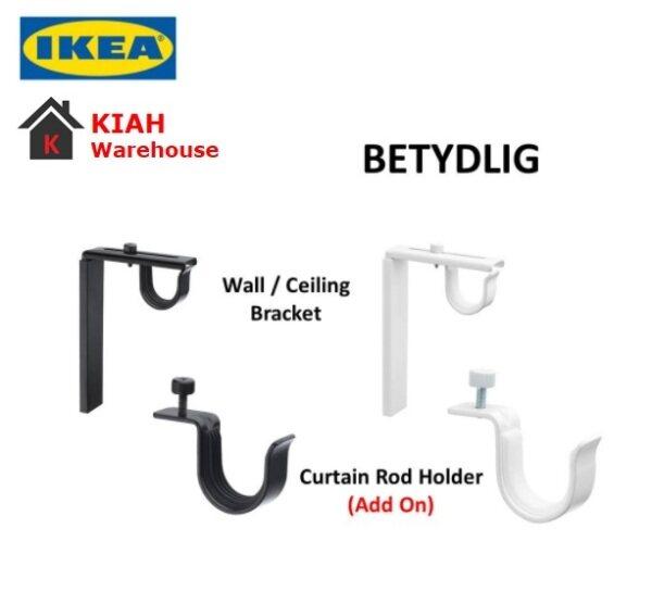IKEA BETYDLIG Wall Ceiling Curtain Rods Rails Bracket Rods Holder White/ Black Ready Stock Malaysia