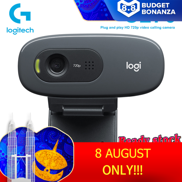 Logitech HD Webcam C270 HD Video 720P Webcam Gaming Auchor Live Broadcast Web Camera Built-in Micphone Network Video Camera for Windows for Online Class Video Calling Recording Conferencing