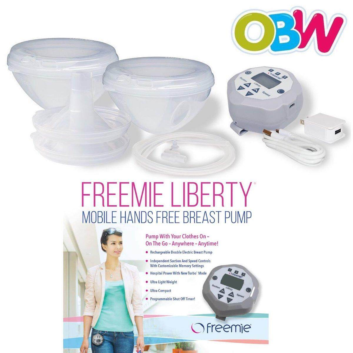 df1d8cbe51d49  FREE SHIPPING  FREEMIE Liberty Mobile Pump Set  with New Freemie Closed  System Cups