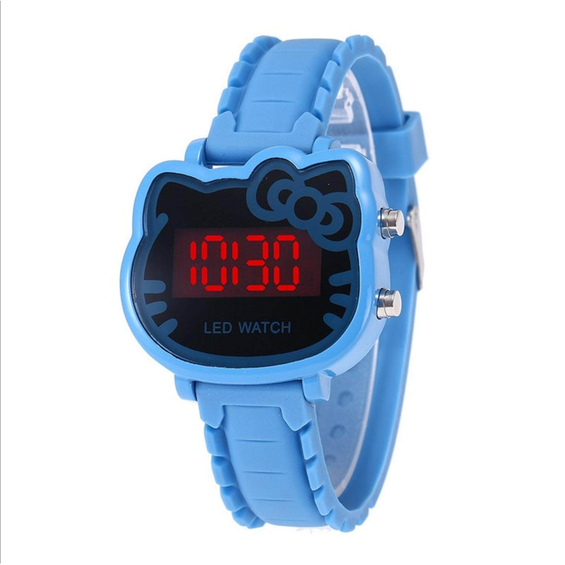【hot sale】YB1157 Hello ,Kitty Watch Women Led Digital Cartoon Wrist Watches Children Girls Casual Womens Clock FWKI 02 Malaysia
