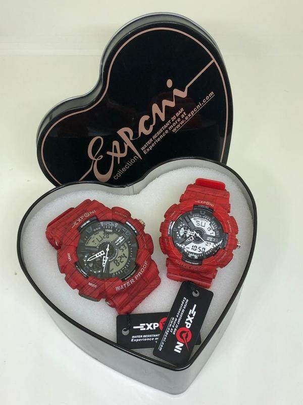 EXPONI WATCHES COUPLE SET(RED) Malaysia