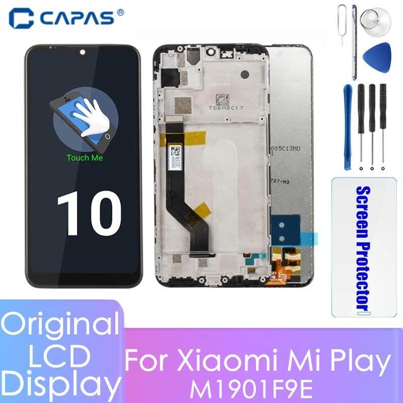 5.84 Alat Pengubah Digital LCD Asli untuk Xiaomi Mi Bermain Layar LCD Digitizer dengan Bingkai Lengkap LCD Layar Sentuh Rakitan Panel Suku Suku Cadang Pengganti + Kaca Antigores + Perbaikan alat