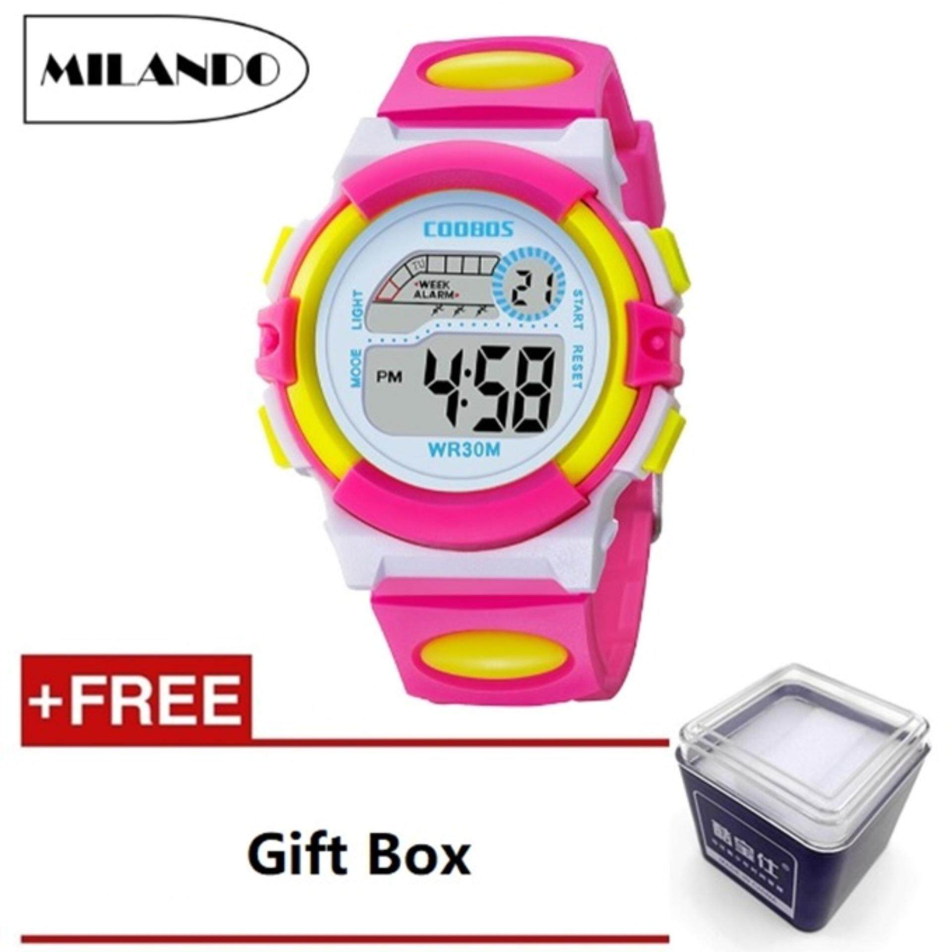 MILANDO Children watches LED Digital Multifunctional 30M Waterproof Outdoor Sports Watch FREE GIFT BOX (Type 1) Malaysia