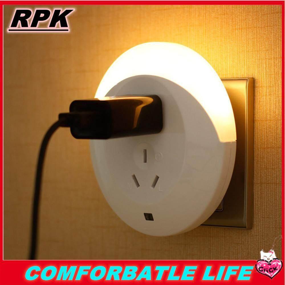 RPK [COD] [FREE SHIPPING] Best-selle LED Night Light Sensor Lamp Multi-function Charging Socket Light Control Plug-in Wall Lamp For Hallway Bedroom