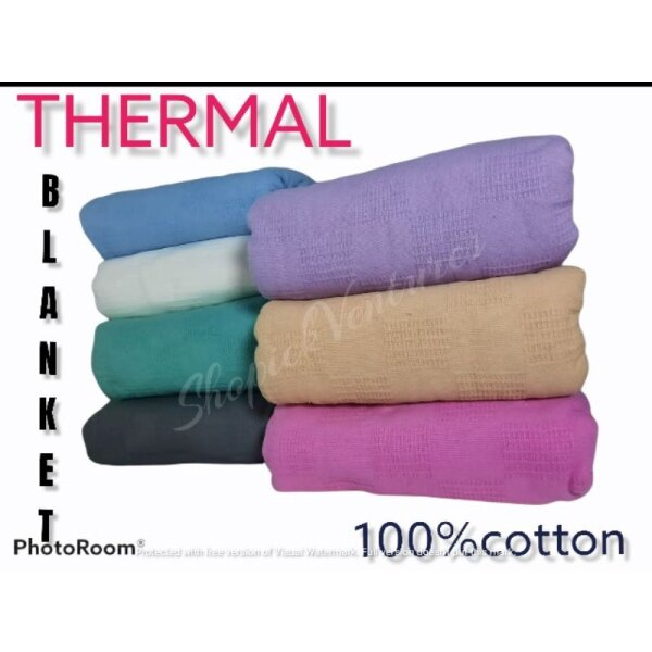#fire blanket 2m# ♭Thermal Blanket 100 NATURAL Cotton High Quality✾