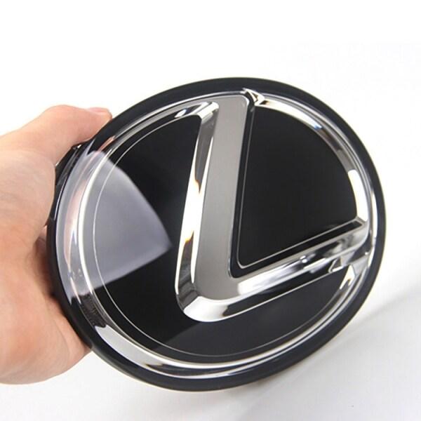 120X85 Mét Biểu Tượng Phía Sau Đuôi Trunk Logo Cho LEXUS CT LX GS Là LS NX RX GX ES200 250 300 Huy Hiệu Màu Đen
