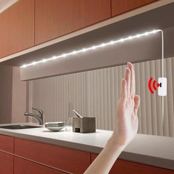 Đèn Thông Minh DC 5V 2/3/4/5M, Đèn Ngủ LED Quét Tay Cảm Biến Chuyển Động PIR Dây LED USB Băng Dính Chống Thấm Nước Trang Trí Tủ Quần Áo Phòng Ngủ Nhà Bếp