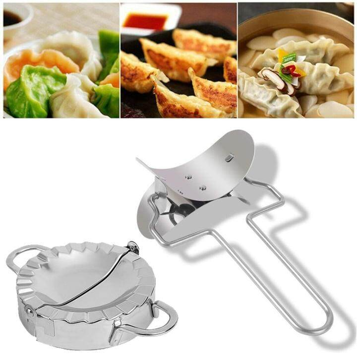 2x Stainless Steel Dumpling Mould Press Meat Pie Pastry Maker Dough Cutter