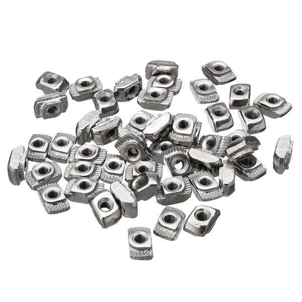 Drillpro 50Pcs M3 T Nut 3030-M3 Hammer Block Slot Nuts for 30 serie Aluminum Profile Extrusion Fastener Parts Groove 8