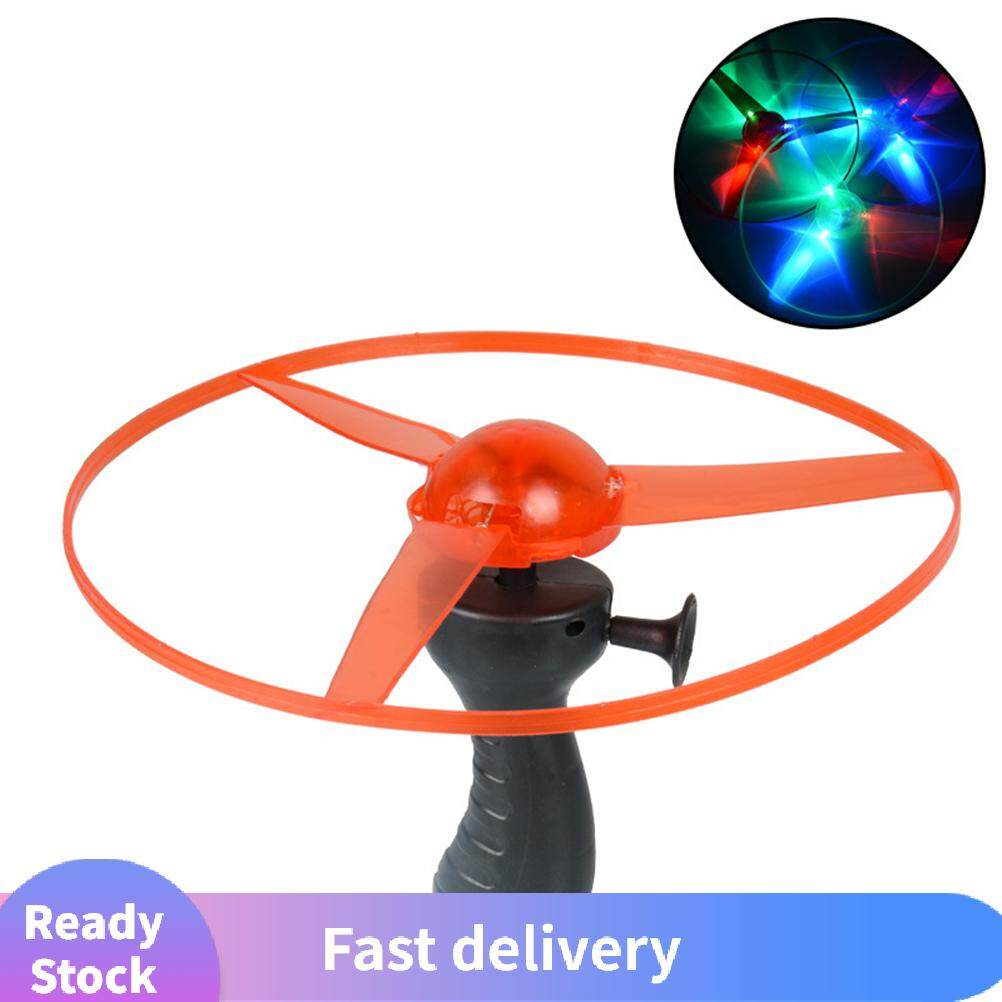 สุ่มfunnyดึงstringไฟledแบบยูเอฟโอflyingจานรองจานdiscของเล่นเด็ก.