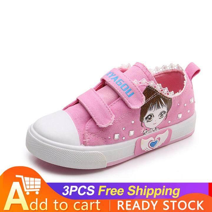 Giá bán Ocean Girl Flat chống trượt Chịu mài mòn Thông Thoáng khóa dán Giày Sneaker Giày Trẻ Em