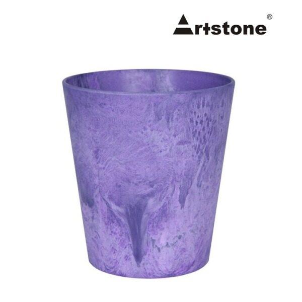 Artstone Decorative Flower Cache Pot / Pasu Bunga Hiasan / Indoor and Outdoor / Lightweight / Modern Marble Stone Look / Claire Grower D13 H14 X 2 Pcs