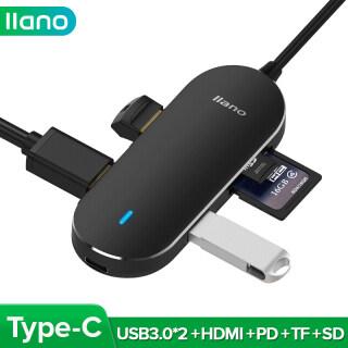 Trạm Nối Llano Type-C USB3.0 USB-C 5 Trong 1 Sang HDMI Hub Có Chức Năng Sạc PD, Hỗ Trợ Thẻ TF Và SD Cho Macbook, Máy Tính Xách Tay thumbnail