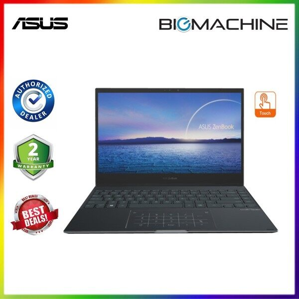Asus Zenbook Flip UX371E-AHL283TS -(i7-1165G/16G/1TBSSD/13.3UHD Touch/OFF H&S/W10/2YR) Jade Black LAPTOP Malaysia