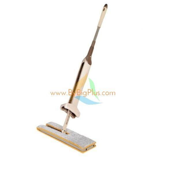 BigPlus Double Sided Hands Free Floor Mop with 2 Microfiber Cloths (38 cm)
