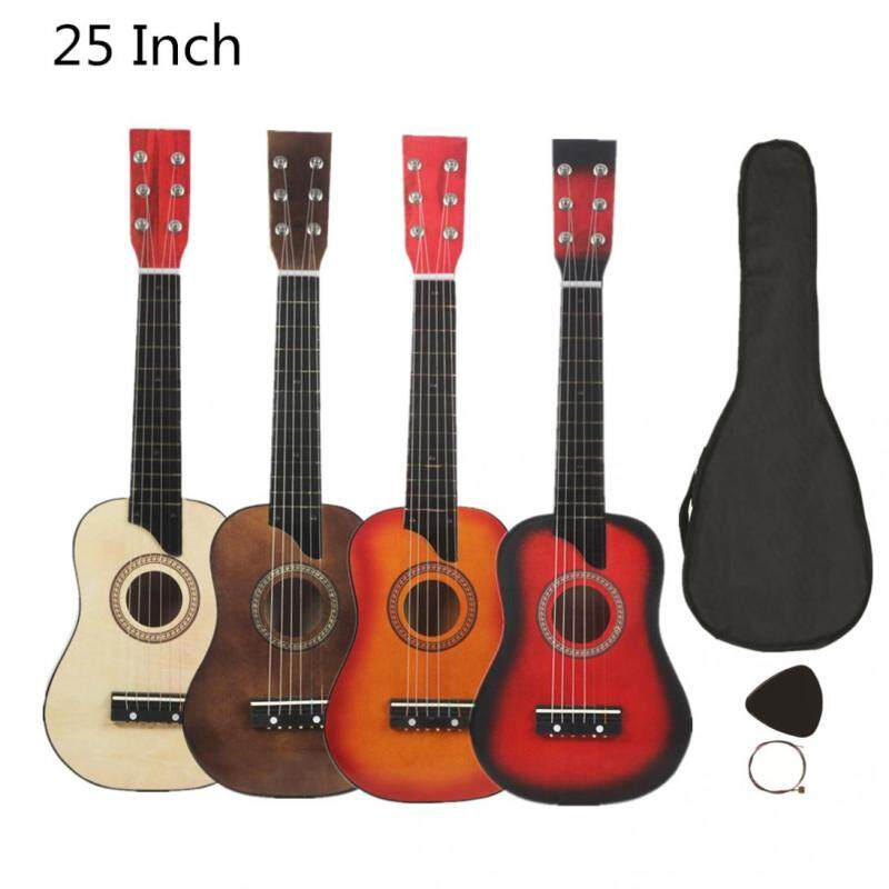 25 Inch Basswood Acoustic Guitar With Bag Pick Strings Gift For Children And Beginner Musical Instrument 4 Colors Optional Malaysia