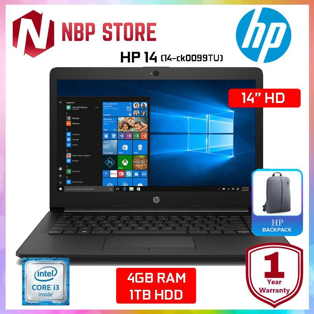 HP 14-ck0099TU 14 Laptop Black ( i3-7020U, 4GB, 1TB, Intel, W10 ) Malaysia