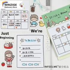 30 Tờ giấy ghi nhớ Winzige dễ thương dùng để ghi chú kế hoạch – INTL