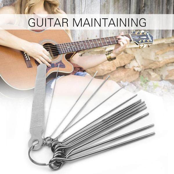 Guitar File Kit Set 13 Different Size Needles Files Flat File Grinding stone for for Guitar Banjo Mandolin Bass String Groove Slot Malaysia