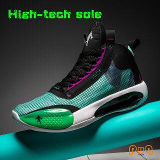 Giày bóng rổ chuyên nghiệp cao cấp puq AJ cho nam, giày thể thao giày bóng rổ cỡ lớn bằng da, phù hợp với tất cả, giày thời thượng với phong cách đường phố, màu ma thuật, mùa thu 2020 thumbnail
