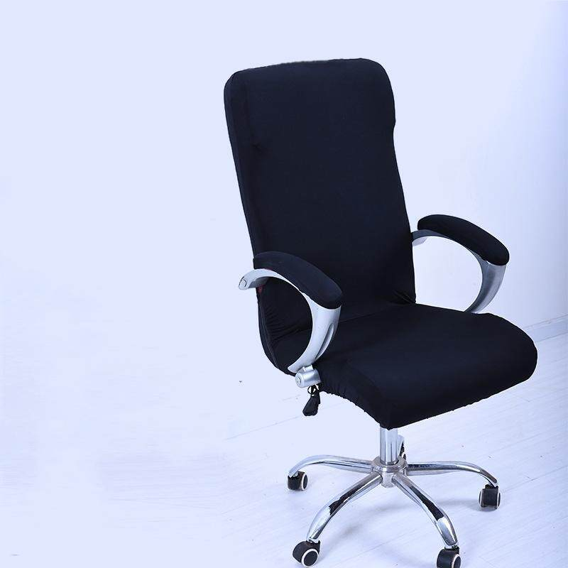 L Spandex Office Chair Cover Slipcover Armrest Cover Computer Seat Cover Stool Swivel Chair Elastic(Chair is NOT included) # Black