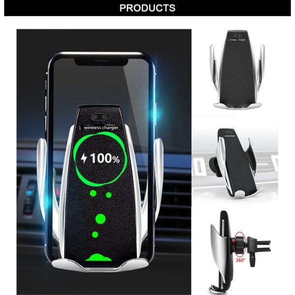 Giá Bộ Sạc Điện Thoại Trên Xe Hơi Winstong S2, Đế Giữ Điện Thoại Không Dây 2 Trong 1 10W Qi Cho iPhone Samsung Huawei
