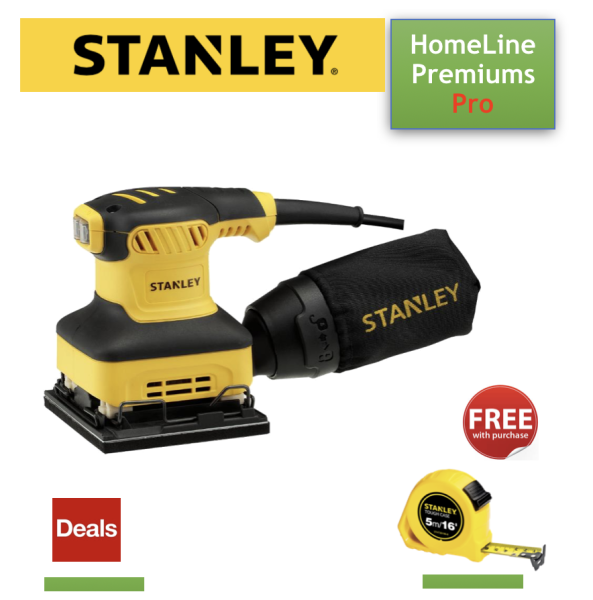 [ DEAL - FREE GIFT ] STANLEY SS24 240W 1/4 SHEET SANDER with FREE 5M STANLEY TAPE