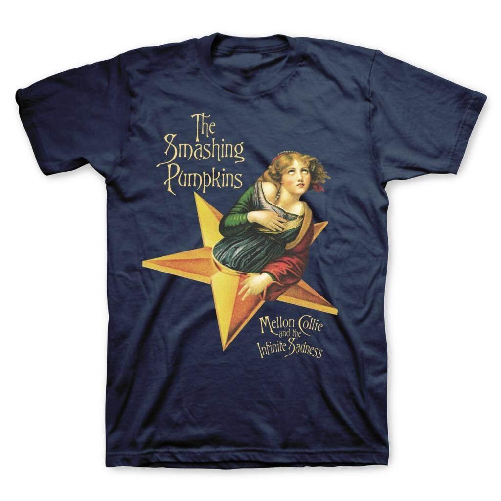 24b05290dc8 T-shirt Smashing Pumpkins Mellon Collie Men s Fashion Short Sleeves Cotton  Tops Clothing
