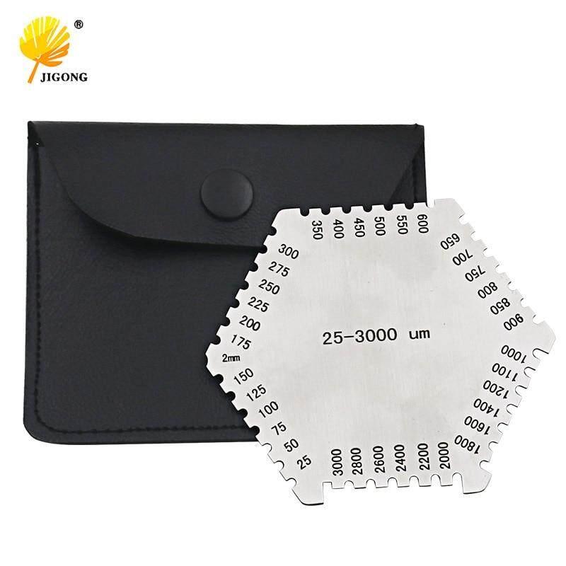 High precision hexagon stainless steel Wet film comb 25-3000um wet film thickness gauge——(1 pcs)
