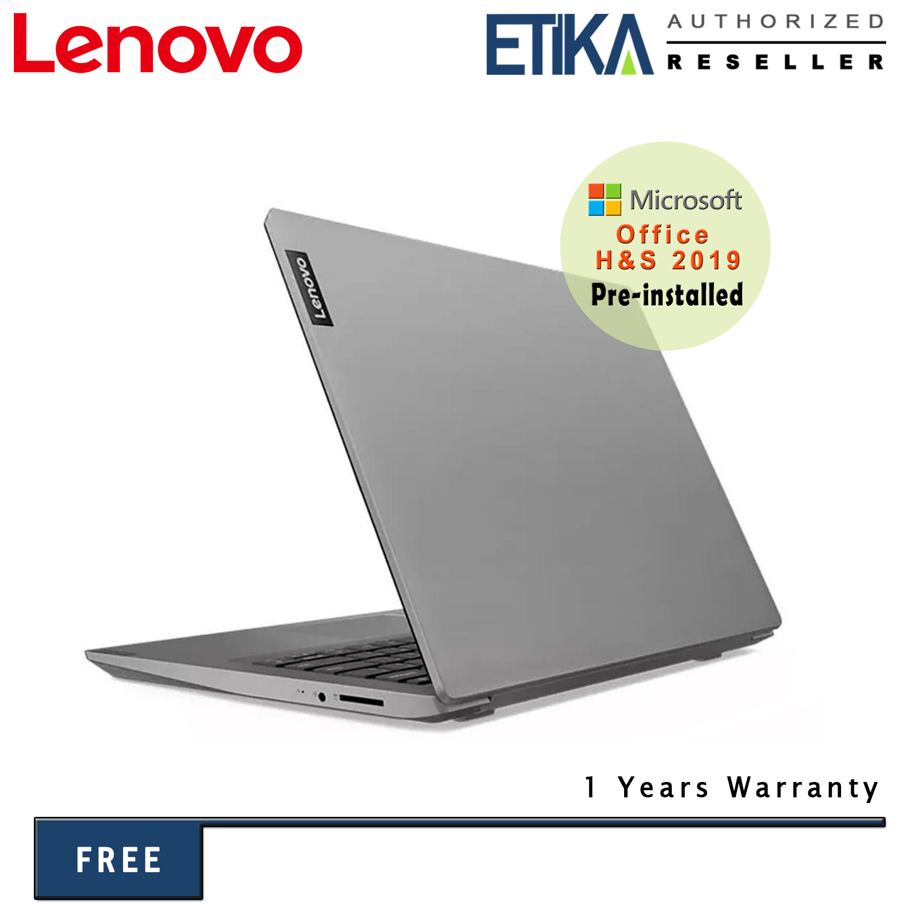 Lenovo S145-14AST 81ST005KMJ 14  HD Slim Laptop (A6-9225/ 4GB/ 256GB SSD/ Integrated/ W10+H&S) - Free Carrying Case Malaysia