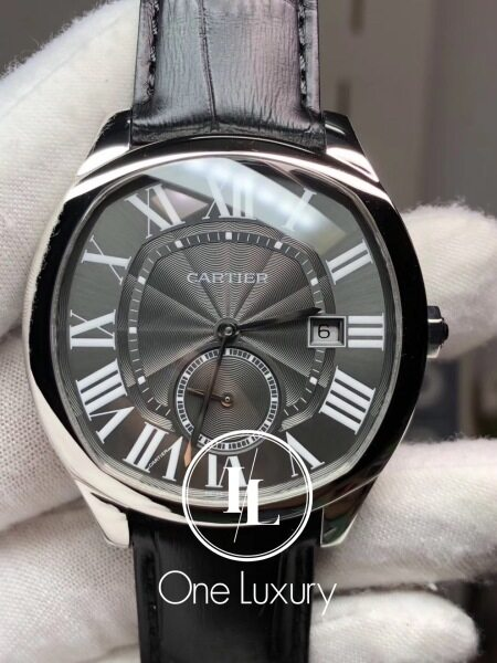 [ONE LUXURY] DRIVE 41MM BLACK DIAL STEEL ON BLACK LEATHER STRAP MENS WATCH Malaysia