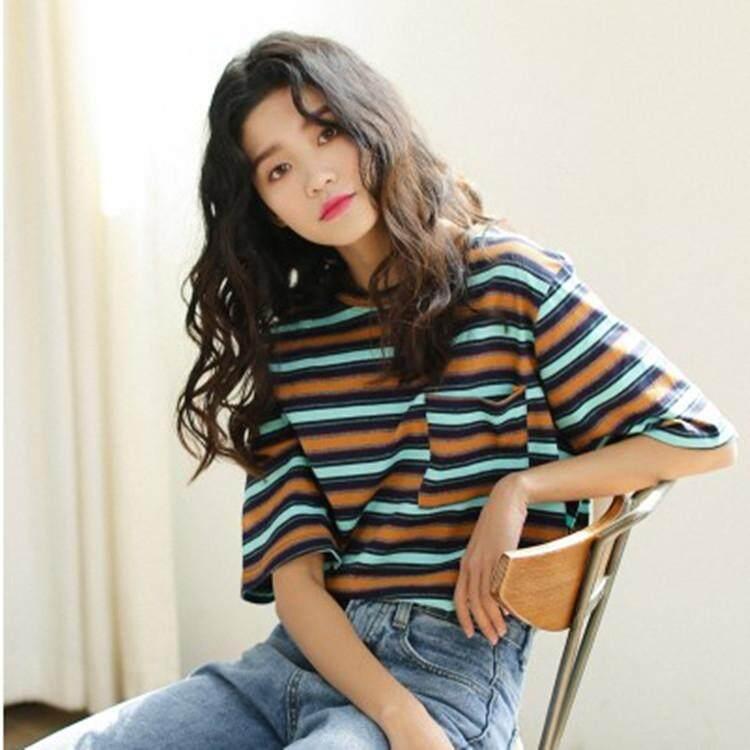 4a891e801c0a Super fire shirt short sleeve female 2019 new summer dress loose Korean  students wild half sleeve