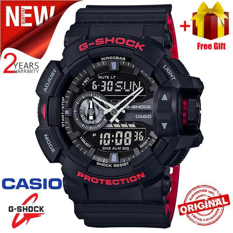 (Ready Stock) Original Casio G Shock_GA-400HR-1AMen Sport Watch Duo W/Time 200M Water Resistant Shockproof and Waterproof World Time LED Auto Light Wist Sports Watches with 2 Year Warranty GA400/GA-400 Malaysia