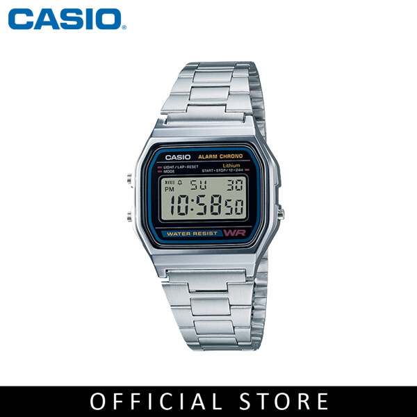 Casio General A158WA-1 Silver Stainless Steel Band Men Watch Malaysia