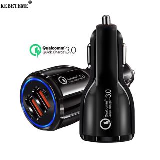 Kebeteme Dual USB Sạc Xe Hơi QC 3.0 12V 24V Nhanh Hơn Sạc 6.0 A Cho Máy Tính Bảng Điện Thoại Thông Minh thumbnail