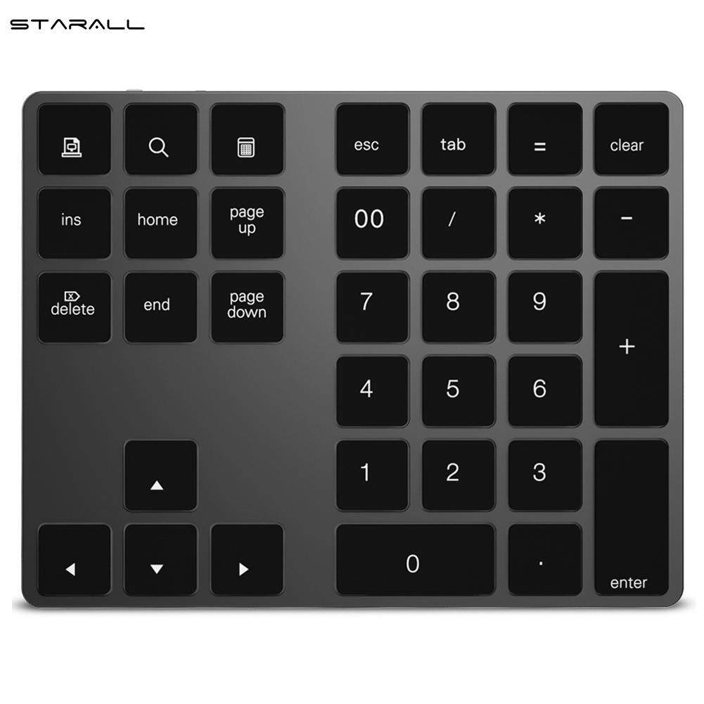 StarALL Bluetooth Number Pad Keyboard Numeric Mini 34 Keys Aluminum Alloy for iOS Android Malaysia