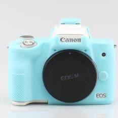 Mềm Silicone Bảo Vệ Da Toàn Thân Bao Túi dành cho Canon EOS M50 Eosm50 Camera