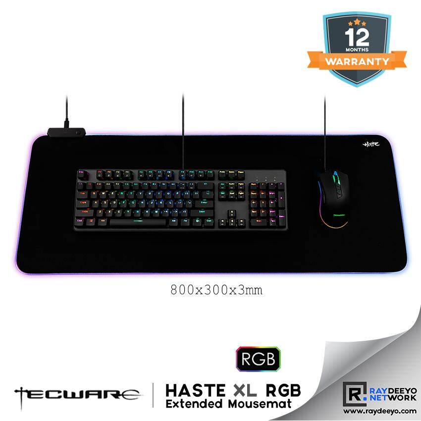 Tecware HASTE XL RGB Gaming Mousepad (800x300x3mm) Malaysia