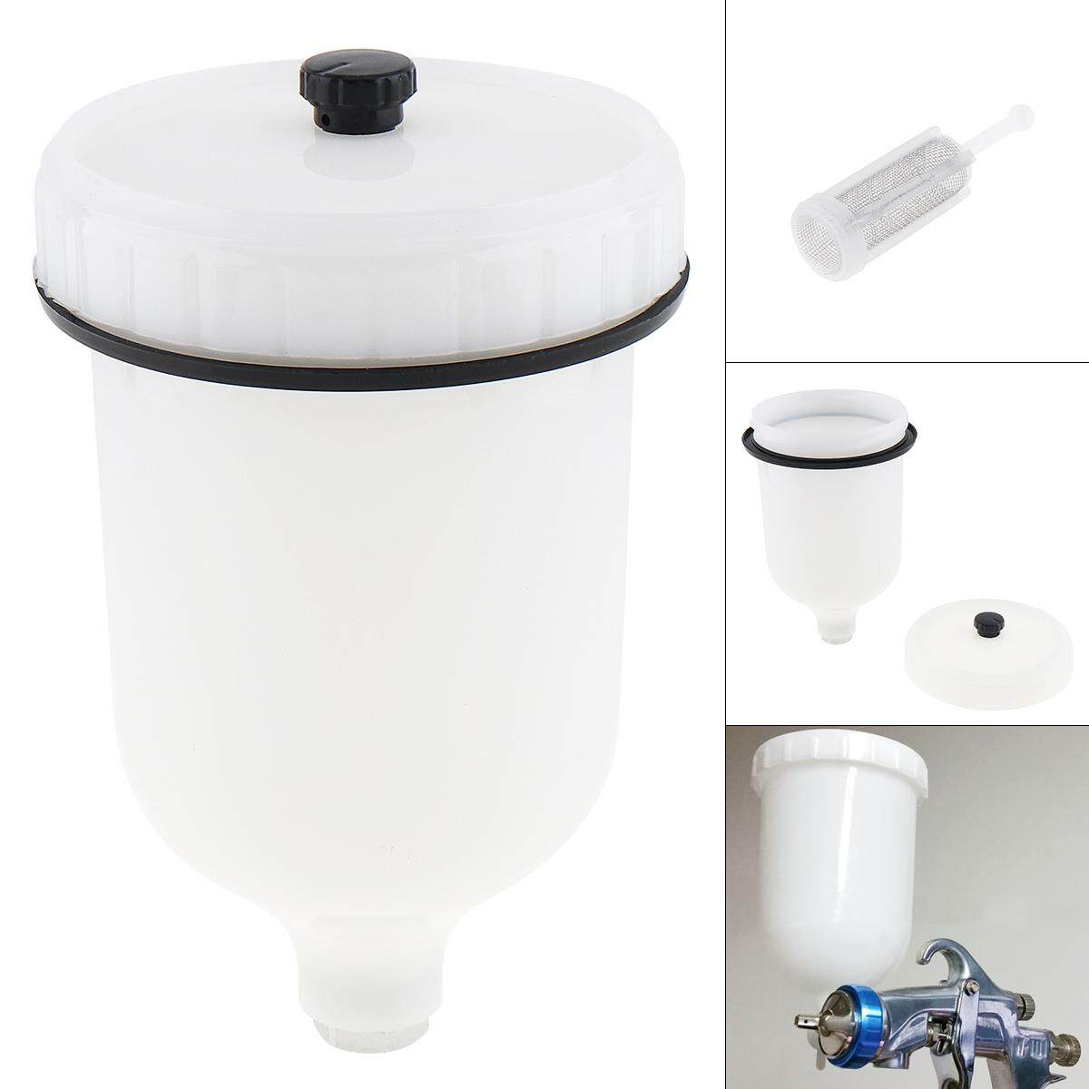 500ml Paint Cup ABS Pot with 2/3 Internal Thread and Small Funnel  for Holding Liquid