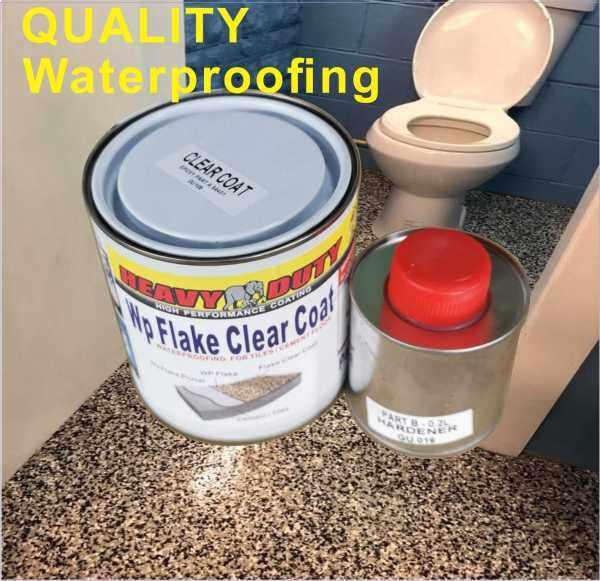 1L ( WP FLAKE CLEAR COAT ) EPOXY TOP COAT CLEAR FLAKE COLOURS FLOOR / HEAVY DUTY /  CLEAR paint