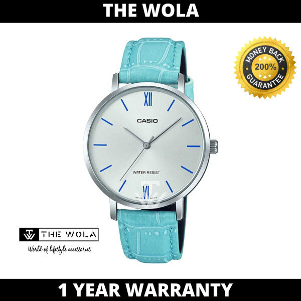 Casio Womens Analog LTP-VT01L-7B3UDF Blue Leather Band Casual Watch (watch for women / jam tangan wanita / casio watch for women / casio watch / women watch) Malaysia