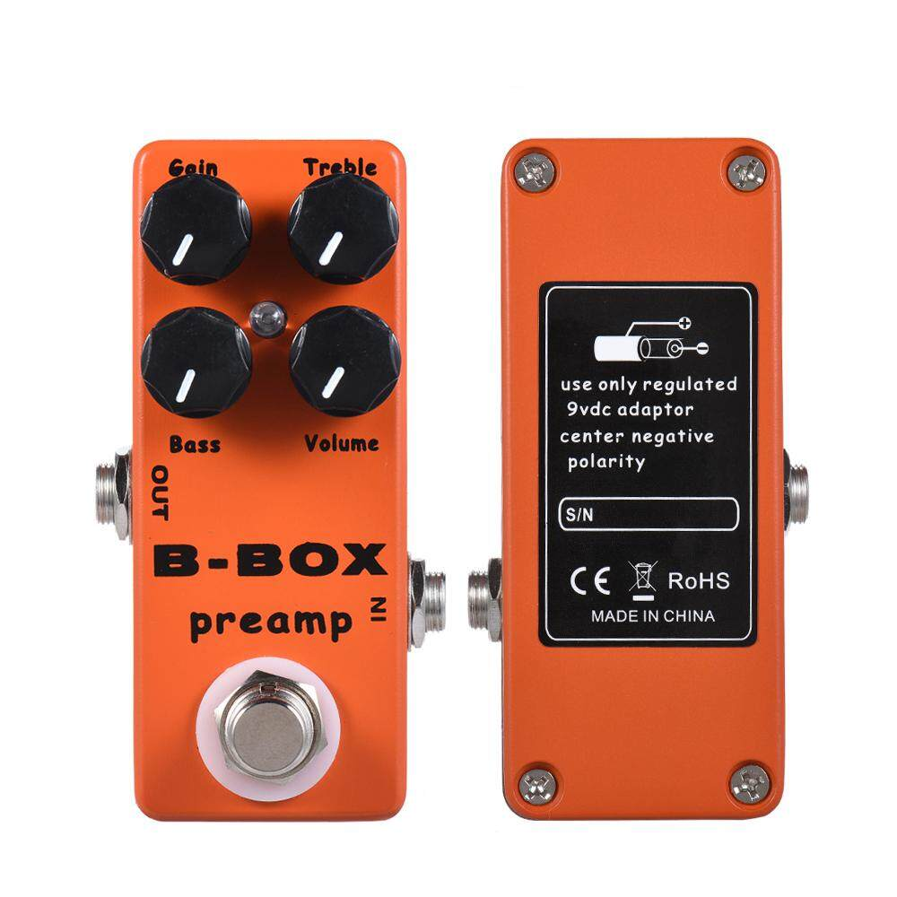 Mosky B-Box Electric Guitar Preamp Overdrive Effect Pedal Full Metal Shell True Bypass By Sent Store.