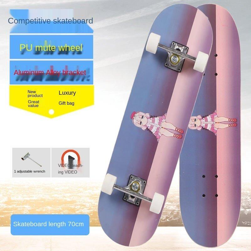 Skate Scooter Trẻ Em Học Sinh, Xe Tay Ga Đường Cao Tốc Hai Chiều Dạ Quang Cho Bé Trai Bé Gái Người Lớn